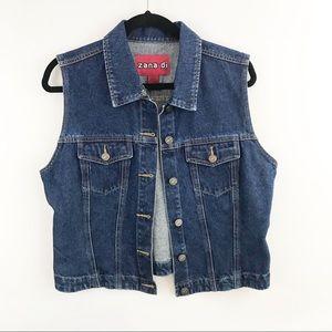 Vintage Zana-di Denim Jean Vest